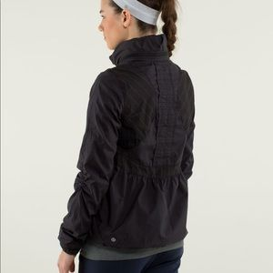 • LuluLemon black running jacket •